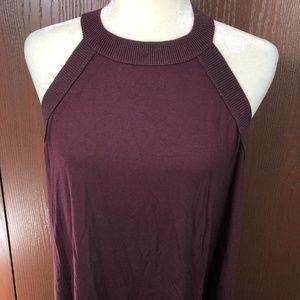 Ann Taylor Loft Dress Maroon size Large Stretchy